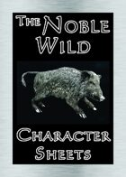 'Noble Wild' Character Sheets