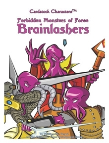 Forbidden Monsters of Foree: Brainlashers (Cardstock CharactersTM) on RPGNow.com