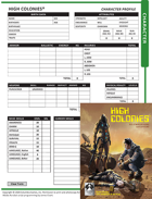 High Colonies RPG Interactive Character Sheet