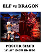DunJon Poster JPG #87 (Elf vs Dragon)