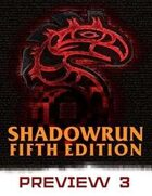 Shadowrun: Fifth Edition Preview #3
