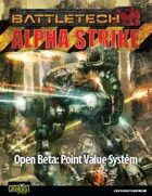 BattleTech: Open Beta - Alpha Strike Point Value System
