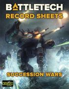 BattleTech: Record Sheets: Succession Wars