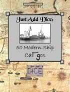 Just Add Dice: 50 Modern Ship Cargos
