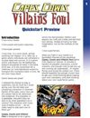 Capes, Cowls and Villains Foul -- Quickstart Preview