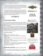 Leagues of Adventure Appendix 1: Cads & Cultists