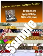 Fantasy Banners or Page Separators Volume 4 Holiday Mix