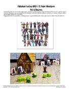 Palladium Fantasy RPG® Paper Miniatures #6: Dwarves