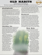 Old Habits: A Horror One Sheet for Savage Worlds