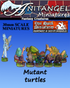 Anitangel Miniatures: Fantasy Creatures: Free Mutant Turtles