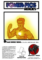Power Pics Heroes 8 -Male Energy Being on RPGNow.com