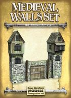 Medieval Walls Set Paper Models