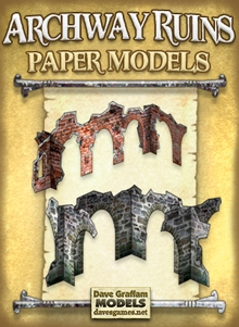 Archway Ruins Set Paper Models on Wargame Vault