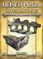 Ruined Plaza Paper Models Set