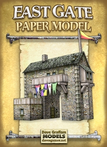 East Gate 28mm/30mm Paper Model on Wargame Vault