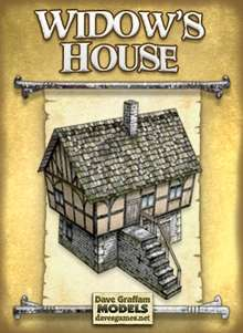 Widow's House Paper Model on Wargame Vault