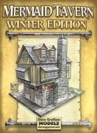 Mermaid Tavern Winter Edition Paper Model