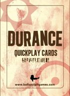 Durance: Quickplay Cards