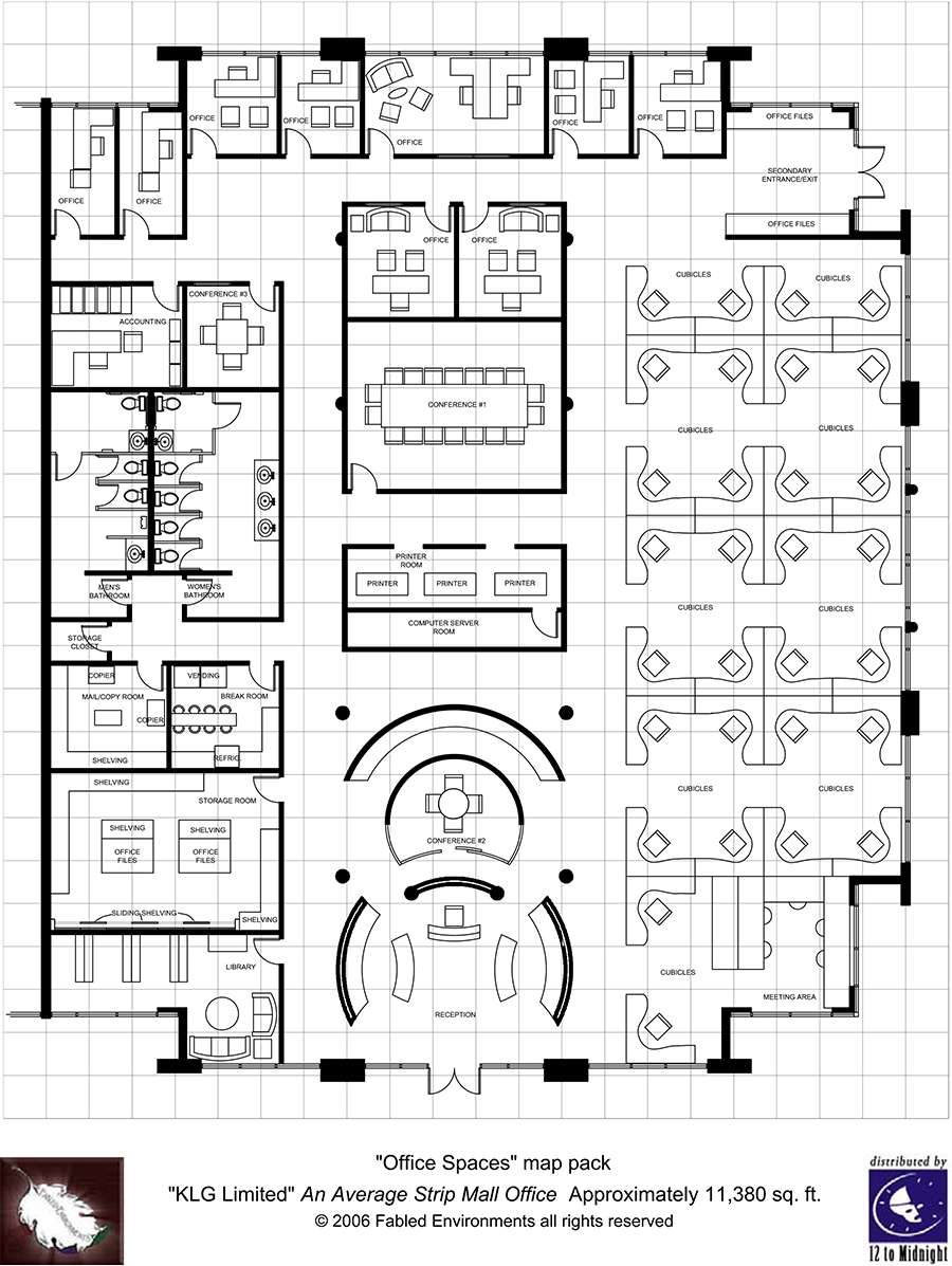 Modern floorplans single floor office fabled for Typical office floor plan