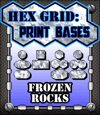 Hex Grid: Print Bases- Frozen Rocks