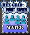 Hex Grid: Print Bases- Water