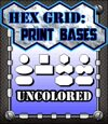 Hex Grid: Print Bases- Uncolored