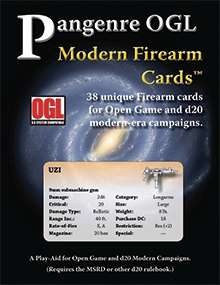 Pangenre OGL Modern Firearm Cards on DriveThruRPG.com