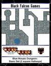 Blue Mosaic Dungeon Basic Set with 2 square Hallways
