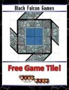 Blue Mosaic Dungeon: Doors and Stairs (2 square Hallways) - Free-4-All Tile