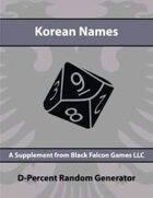 D-Percent - Korean Names