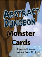 Abstract Dungeon Monster Cards: Plants, Animals, and Magical Beasts