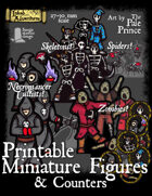 Cultists,Skeletons,Spiders,Zombies! Printable Minis & Counters