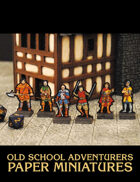 Old School Adventurers Paper Miniatures