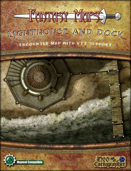 Fantasy Maps: Lighthouse and Dock