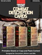 Combat Description Cards (Over 700 System Neutral Ways to Describe Combat on 120 Cards)