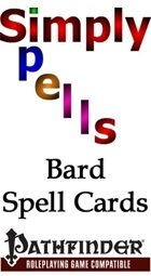 Pathfinder Bard Spell Cards