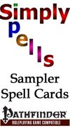 Pathfinder Sampler of Spell Cards