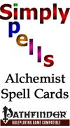 Alchemist Spell Cards for the Pathfinder Role Playing Game