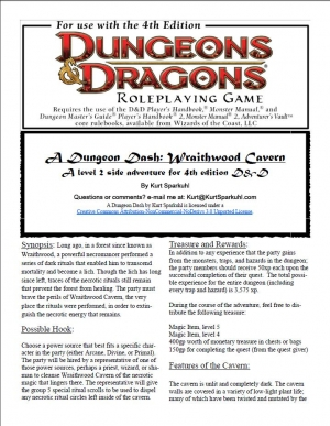 A Dungeon Dash: Wraithwood Cavern on DriveThruRPG.com