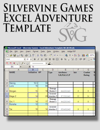 Silvervine Games Excel Adventure Template