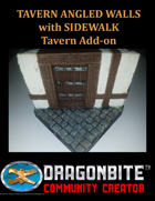 Tavern Angled Walls with Sidewalk
