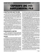 Captain's Log #42 Supplement