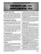 Captain's Log #53 Supplement