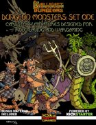 Okumarts Games' Darkfast Dungeons Dungeon Monsters Set One paper minis