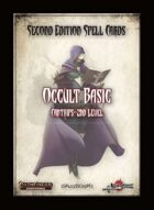 Second Edition Spell Cards: Occult Basic