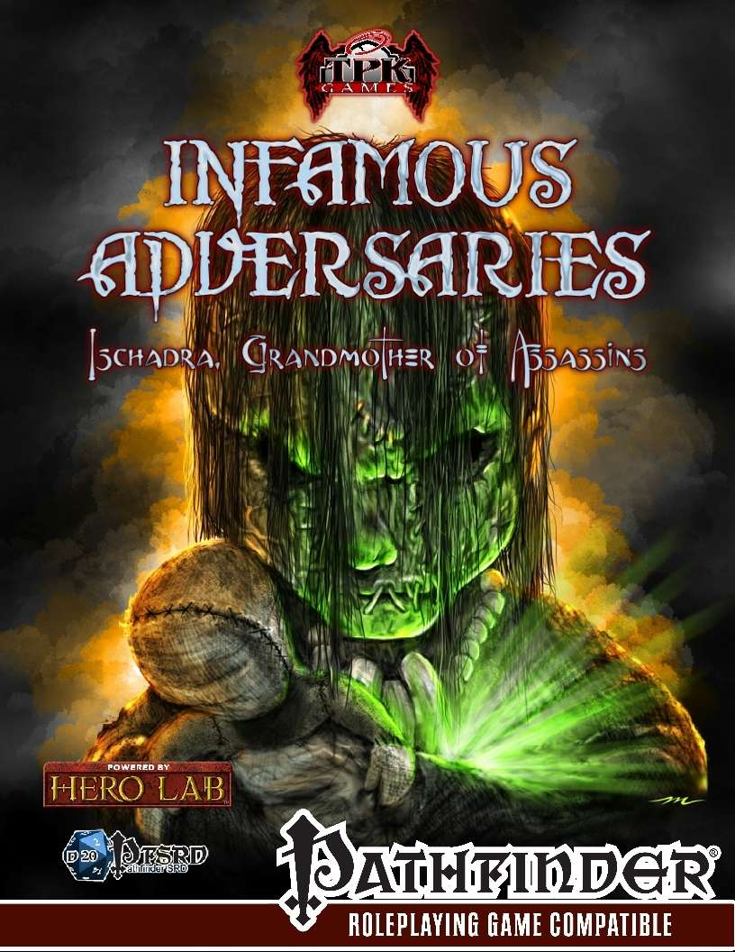 Infamous Adversaries: Ischadra, Grandmother of Assassins on RPGNow.com