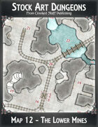 Stock Art Dungeons - Map 12 - The Lower Mines