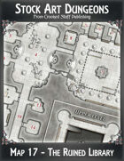 Stock Art Dungeons - Map 17 - The Ruined Library