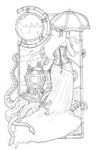 Zelart 050: Steampunk Lady & Octopus