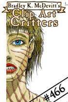 Clipart Critters 466 - Scarred Woman